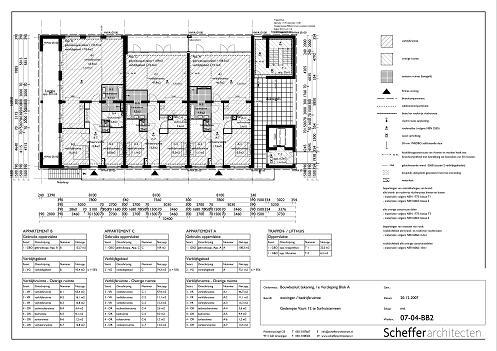 Bouwtekeningen appartementen 1