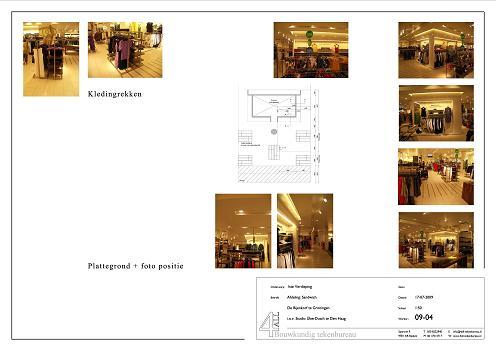 Sandwich De Bijenkorf bouwtekening en foto