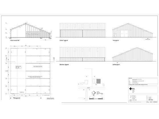 Loods Zuidwolde bouwtekening 1