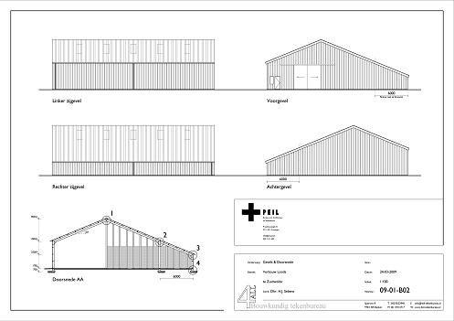 Loods Zuidwolde bouwtekening 2
