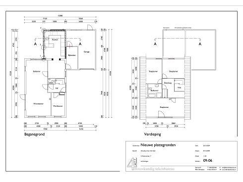 bouwtekening uitbreiding woning groningen 2