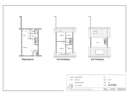 Bouwtekening verbouwing woonhuis Sijgersmaheerd Groningen