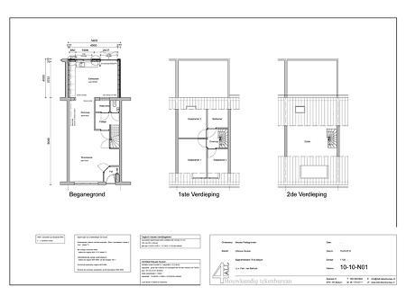 Bouwtekening verbouwing woonhuis Sijgersmaheerd Groningen 2